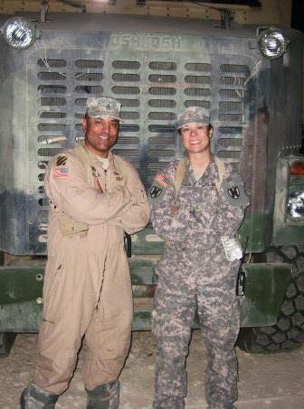 Hubby & I served in the Army. This was taken in Al Asad, Iraq. October 2008