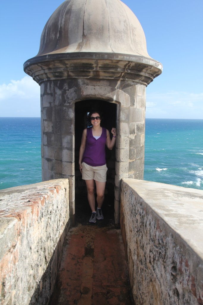 Sightseeing at El Morro in Old San Juan, photo by my better half :)