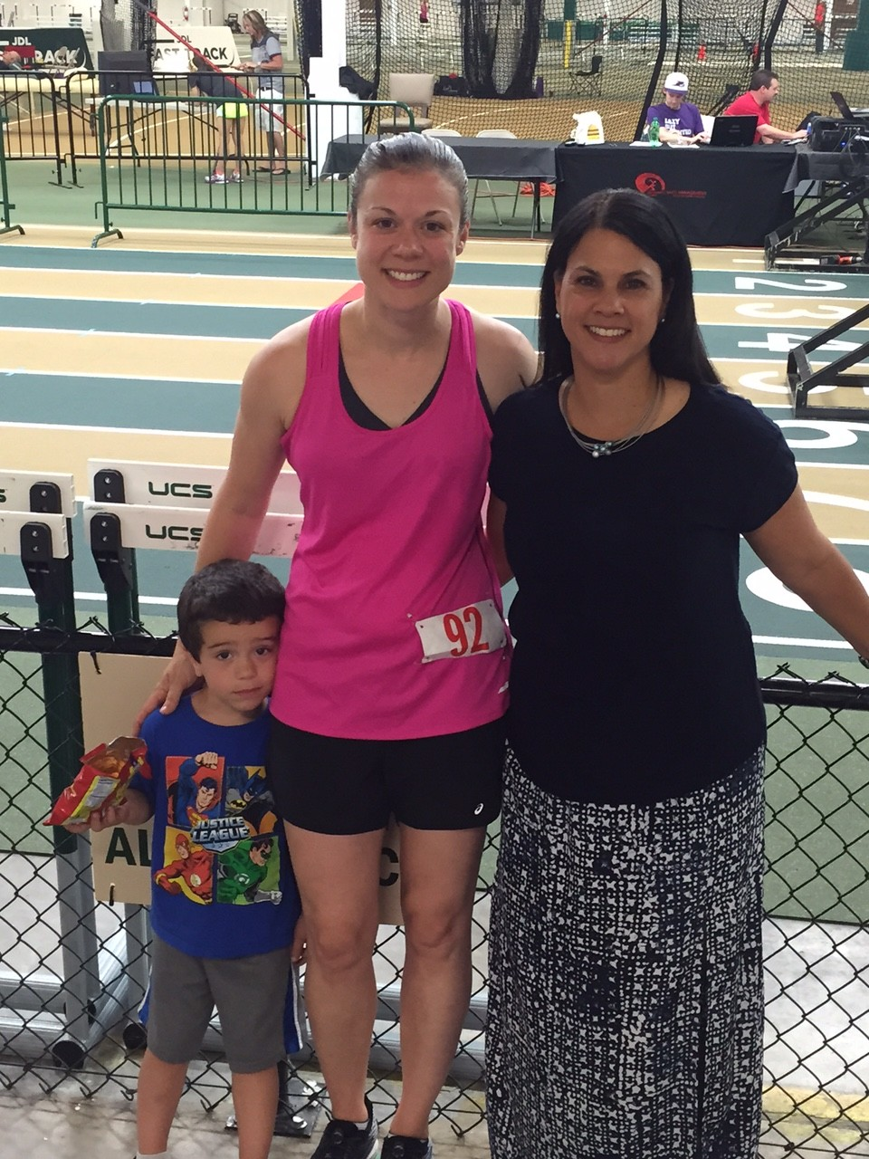 I forgot to get a pic with the fam (doh!) but I did get one with our friend TM who couldn't run this year, and Gabe :)
