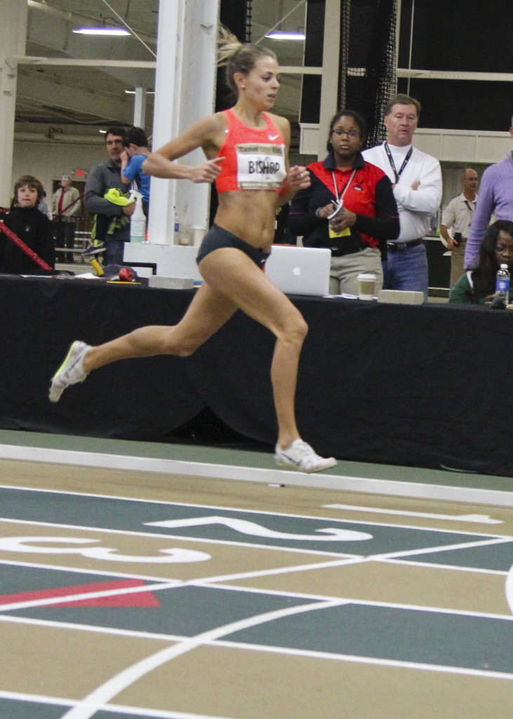 Melissa Bishop, from Canada, was the World Championships silver medalist last year. She won in 2:02.10
