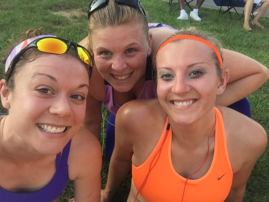 Sweaty ladies post race!