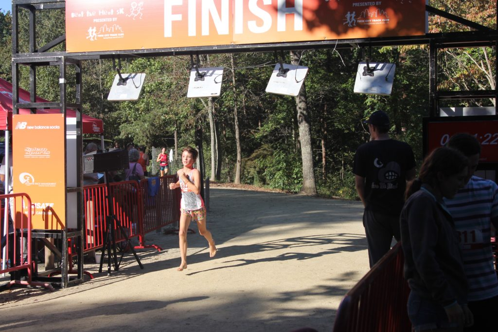 We saw this barefoot girl at Ultimate Runner, she is awesome!