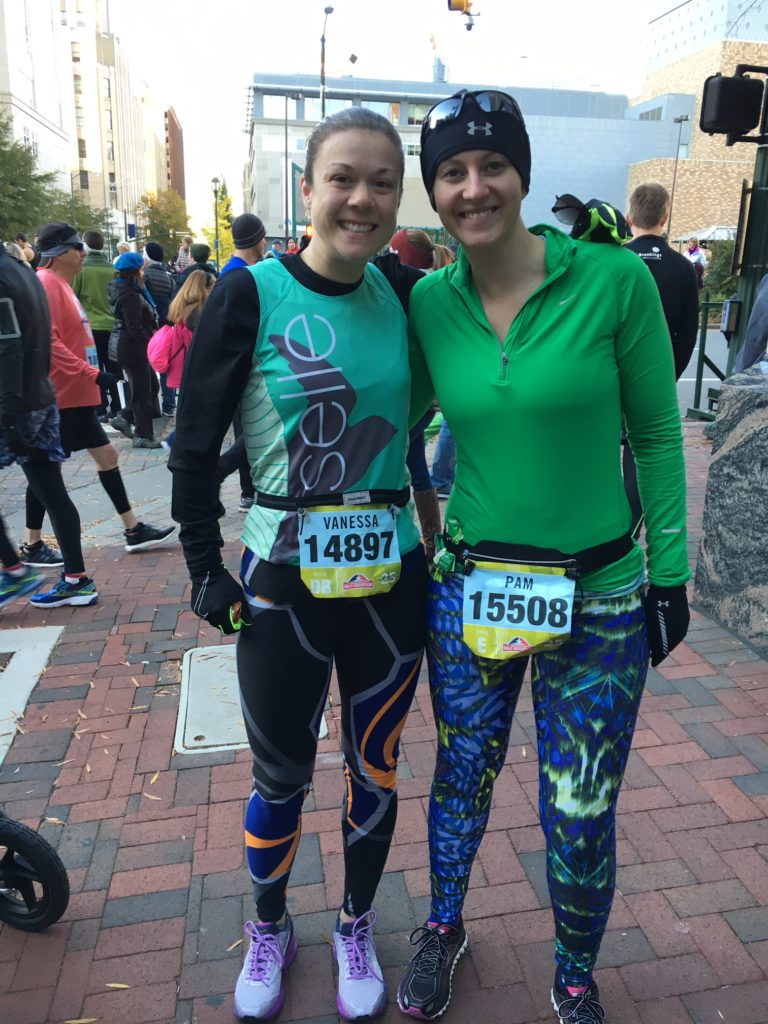 Pre-race with Pam