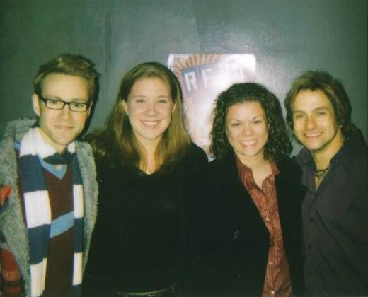 Meg & I with the main characters of Rent! Nov. 2006