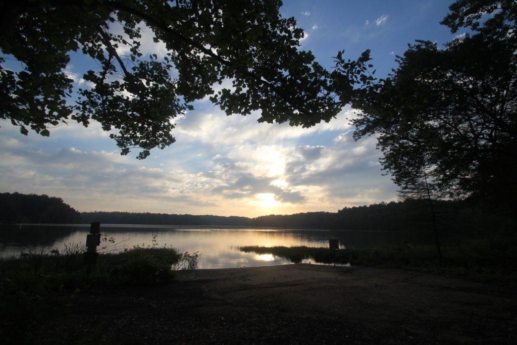 Salem Lake at dawn, May 2017