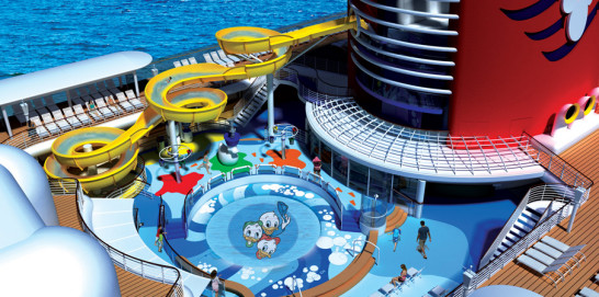 The pool! I can't even tell you how excited Gabe was for the pool and slide. From http://www.couponingtodisney.com/disney-cruise-line-pools/